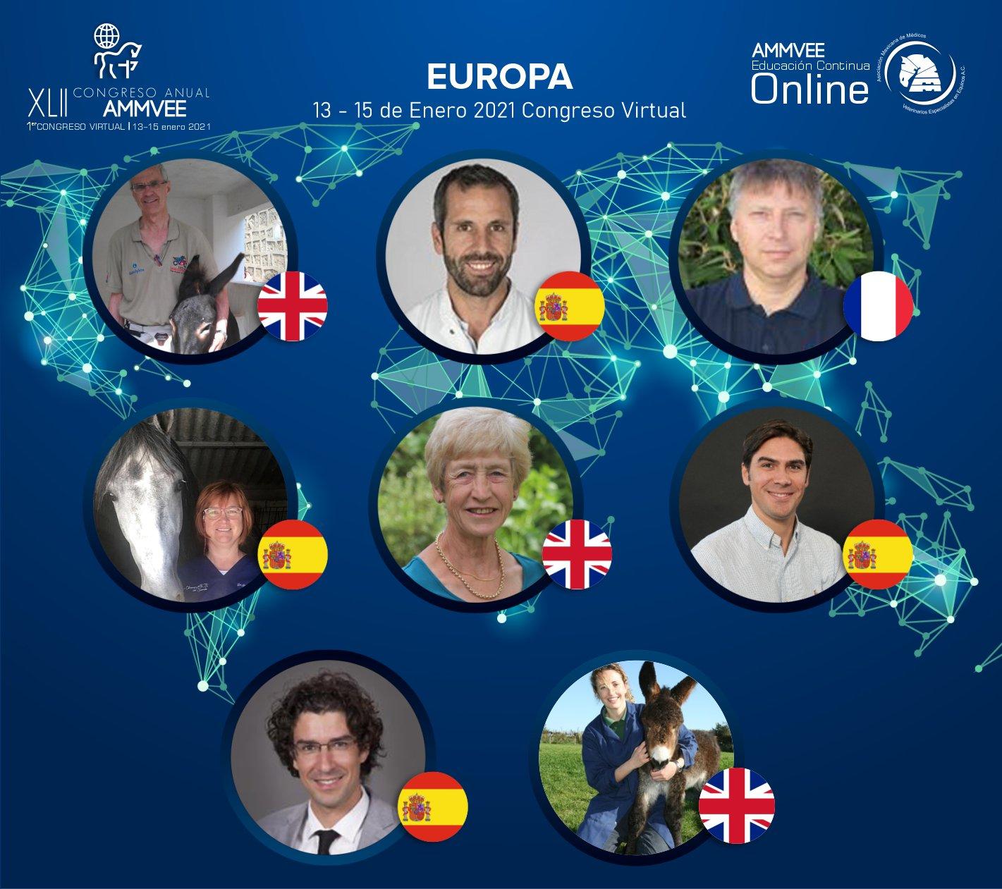 Congreso virtual AMMVEE - Ponentes Europa